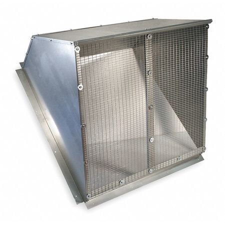 Weather Hood, 36 In, Galvanized Steel