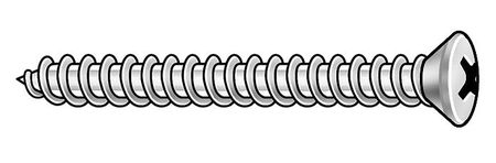 Metal Screw, Oval, #6, 3/8 In L, PK100