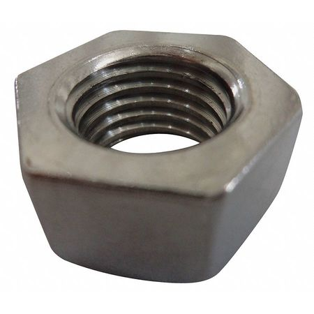 "3/8""-16 Plain Finish 18-8 Stainless Steel Hex Nuts,  100 pk."