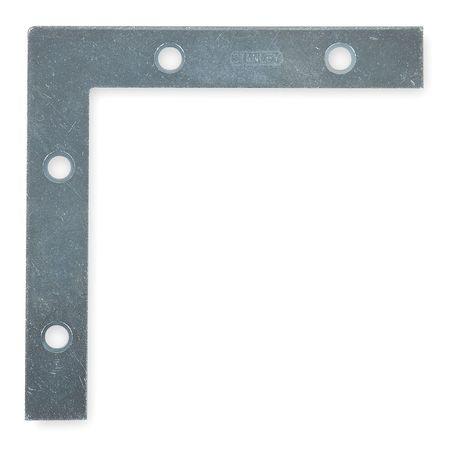 Flat Corner Brace, Steel, 5/8 In W