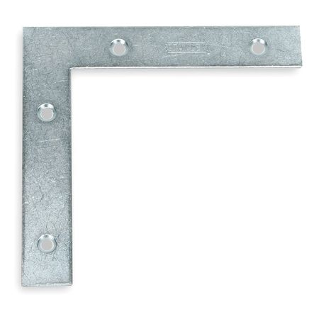 Flat Corner Brace, Steel, 7/8 In W