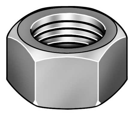 "9/16""-12 Grade 9 Zinc Yellow Finish Carbon Steel Thick Hex Nuts,  25 pk."