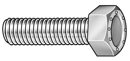 "9/16""-12 x 2"" Grade 9 Zinc Yellow Hex Head Cap Screw,  10 pk."