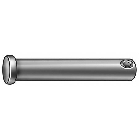 Clevis Pin, Std, 1018, Zinc, 1 In x2 In L
