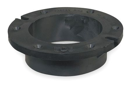 Closet Flange, w/ Gusset, 4 In, ABS, Hub