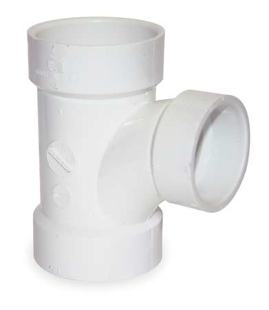 """3"""" x 3"""" x 2"""" Hub PVC DWV Sanitary Tee"""