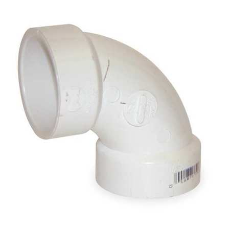 "6"" Hub PVC DWV 90 Degree Elbow"