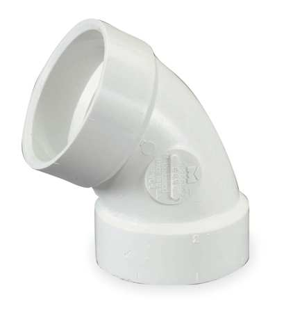"4"" Hub PVC DWV 60 Degree Elbow"