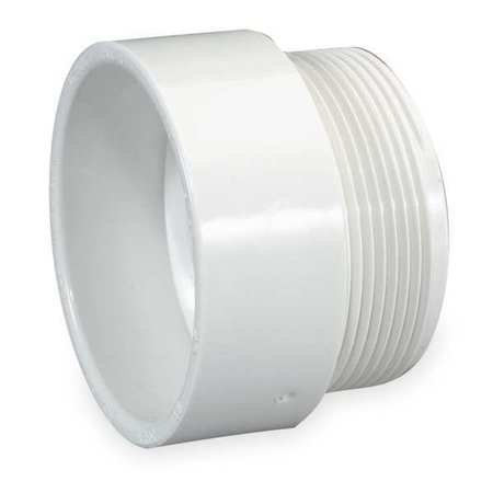 "1-1/2"" Hub x MNPT PVC DWV Male Adapter"