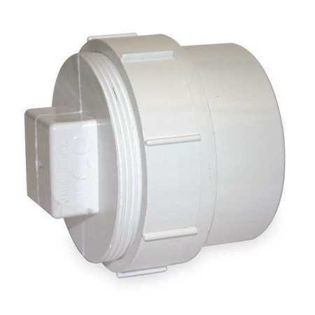 "1-1/2"" FNPT x Spigot PVC Cleanout Adapter with Plug"