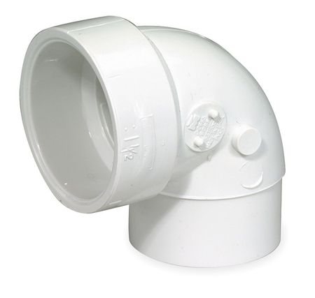 Vent Street Elbow, 90 Deg, PVC, 2 In