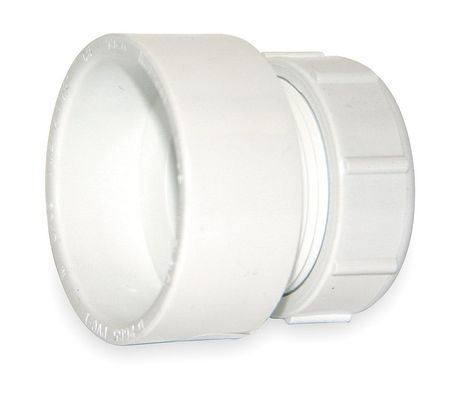 "1-1/2"" Hub x 1-1/4"" Socket PVC Female Trap Adapter"