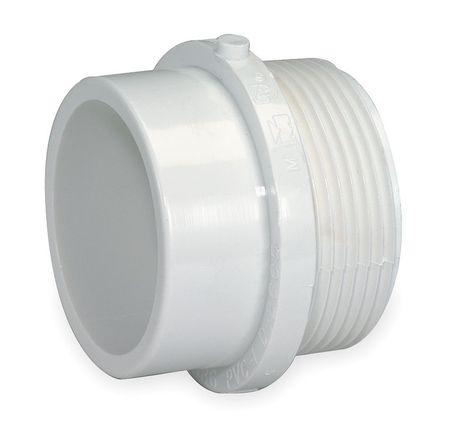 "2"" MNPT x Spigot PVC DWV Male Adapter"