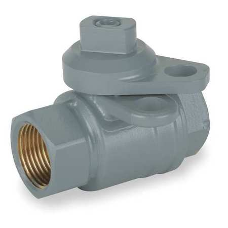 "1"" FNPT Brass Gas Ball Valve Inline"