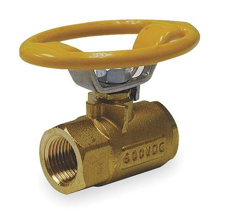 Brass Ball Valve, Inline, FNPT, 3/4 in