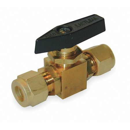 "1/4"" Compr Brass Mini Ball Valve Inline"
