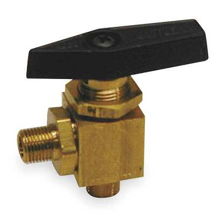 "3/8"" MNPT Brass Mini Ball Valve Angle"