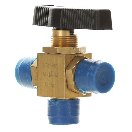 "1/2"" MNPT Brass Mini Ball Valve 3-Way"