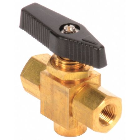 "1/8"" FNPT Brass Ball Valve 3-Way"