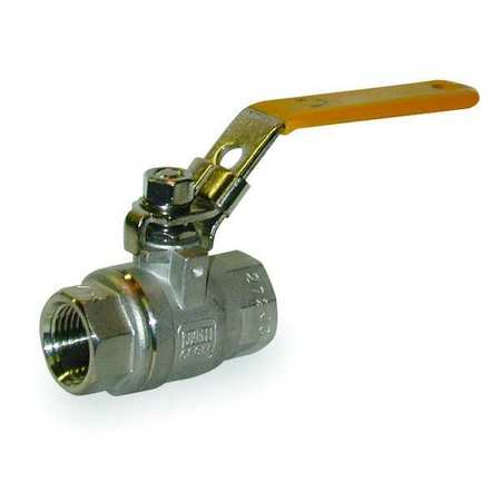 "1-1/2"" FNPT Stainless Steel Ball Valve Inline"