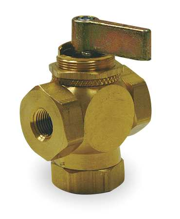 "1/2"" FNPT Brass Ball Valve 3-Way"