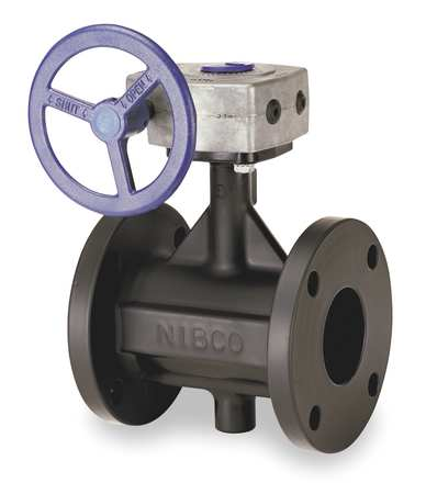 Butterfly Valve, Flanged, 6In, Cast Iron