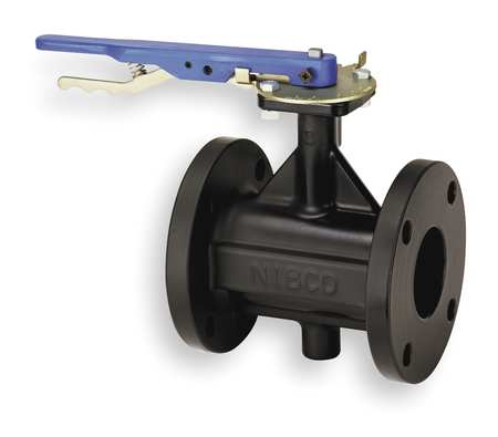 Butterfly Valve, Lever, 4 In, Cast Iron