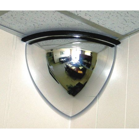 Qtr Dome Mirror, 36In., Scratch Res Acryl