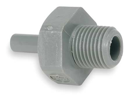 "Adapter, 1/4"" Tube OD, Gray, PK10"