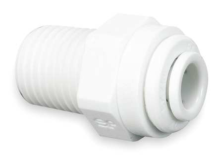 Male Connector, 1/4 x 3/8, Wh, PK10