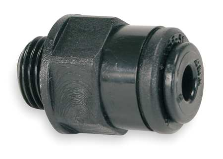 "Adapter, 1/4"" Tube OD, Black, PK10"