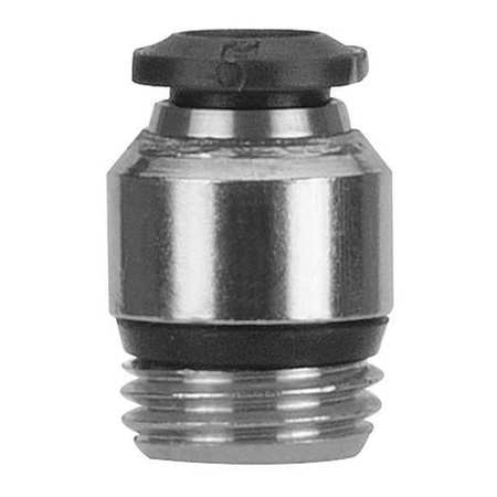 Male Connector, 8mm Tube Sz, Brass, PK5