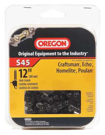 Saw Chain, 12 In., .050 In., 3/8 In. Pitch