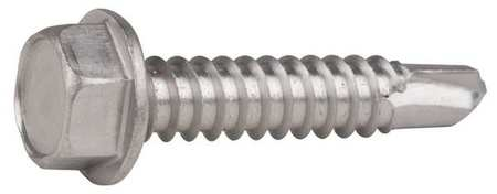 Hex Head Self Drilling Screws,  Plain Finish