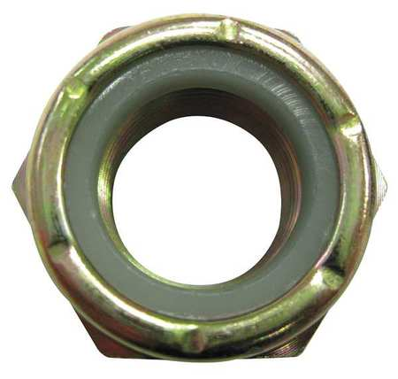 "7/16""-14 Plain Finish 316 Stainless Steel Nylon Insert Lock Nut,  10 pk."