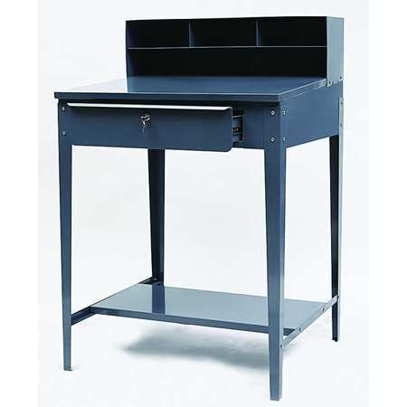 Shop Desk, 34-1/2 x 45-1/8 x 30 In, Gray