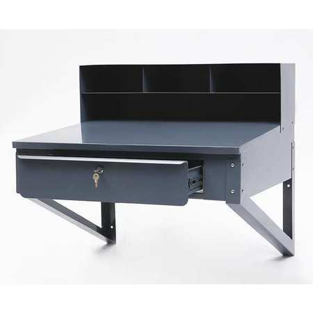 Shop Desk, 34-1/2 x 37-1/2 x 30 In, Gray