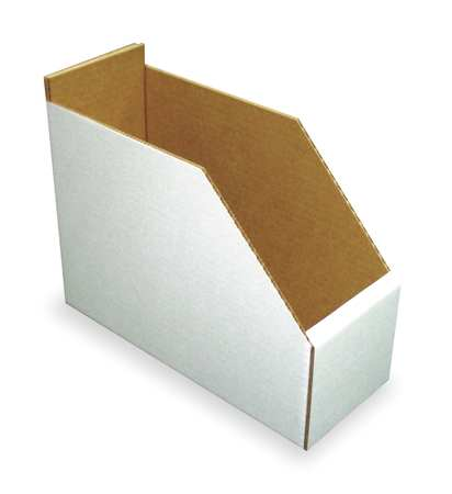 Corrugated Shelf Bin, 200 lb., 6-1/4 In. W
