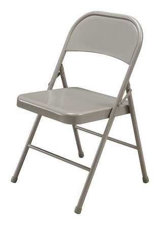 Steel Folding Chair, Beige
