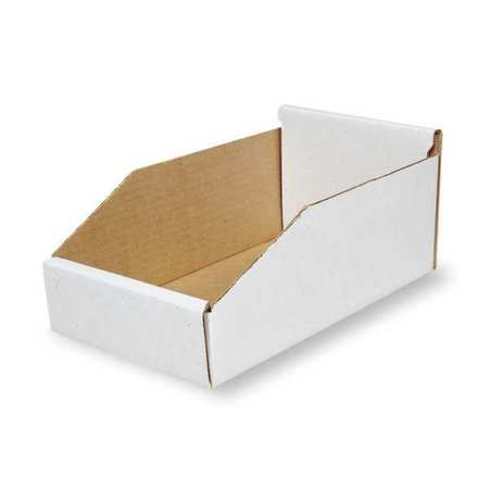 Corrugated Shelf Bin, 200 lb., 8-1/4 In. W