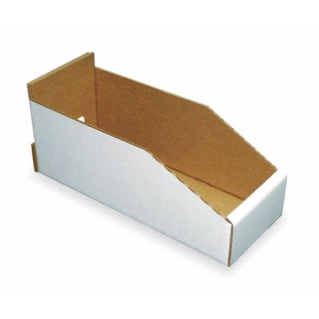 Corrugated Shelf Bin, 200 lb., 2-1/4 In. W