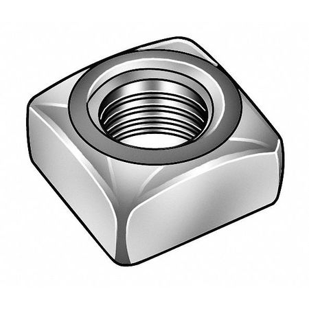 "1""-8 Steel Hot Dip Galvanized Finish Square Nut - Regular,  5 pk."