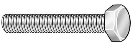 "1/4""-20 x 1/2"" Not Graded Plain Hex Head Cap Screw,  50 pk."