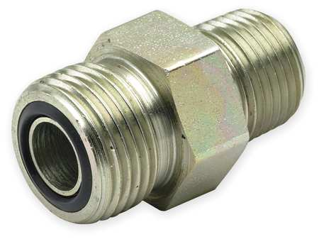Connector, Zinc Pltd Steel, MxORFS, 1/2In