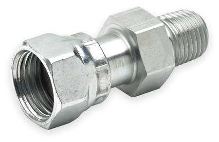 Swivel Connect, Zinc Steel,  Fem. ORFSxM, 1/4In
