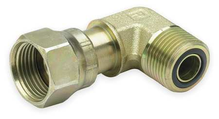 Swivel Nut Elbow, Zinc Steel, ORFS, 1/2In