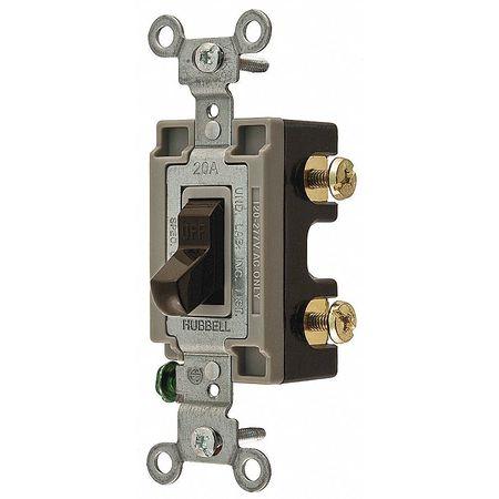 Wall Switch, 1-Pole, Side, 120/277V, 20A, Brn