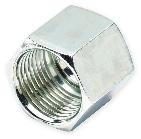 Nut, Zinc Pltd Steel, Comp, 1/4In