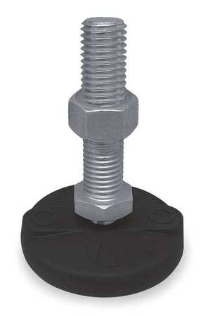 Leveling Mount, Swivel Stud, 1-8, 5 in Base