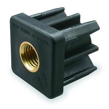 Square Tube End, 3/8-16 Thread